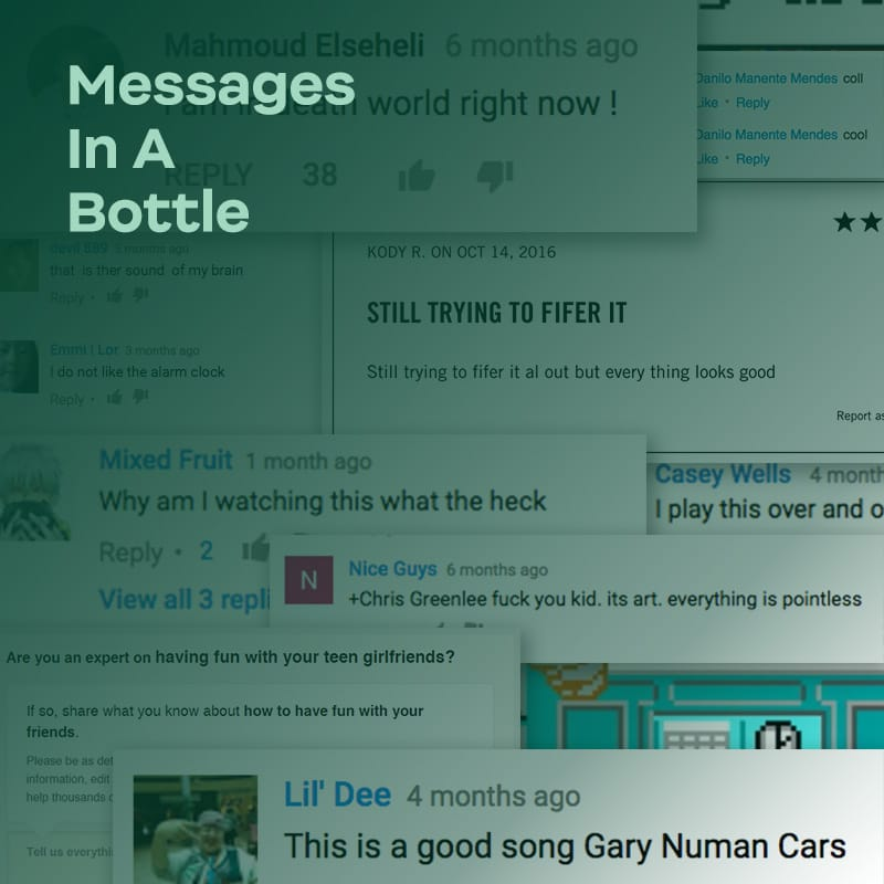 Messages in a Bottle